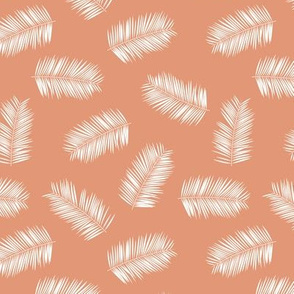 Aloha hawaii island vibes tropical palm leaves jungle moody coral peach white Medium