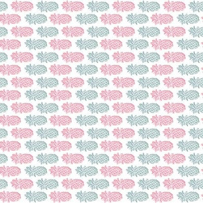 pink and teal pineapple print rotated