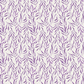 lilac watercolour leaves