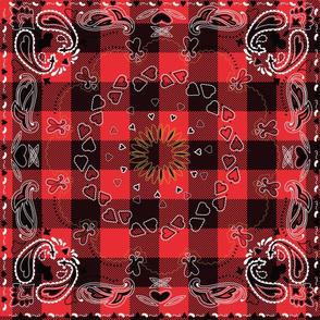 bandana Red Black