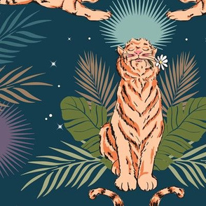 Starry Moonlit Tigers