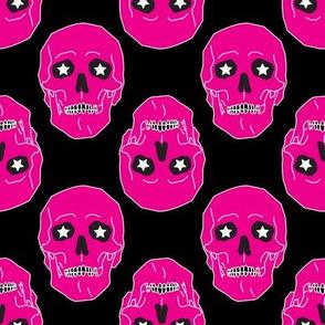 Punk skulls Magenta and Black Medium scale Non directional