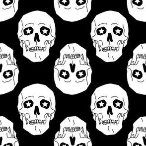 Punk skulls Black and White Medium scale Non directional
