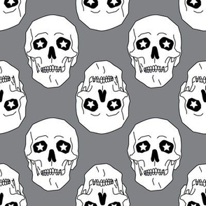 Punk skulls Gray and White Medium scale Non directional