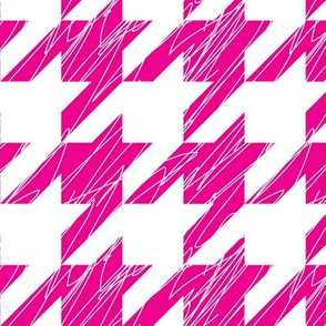 1,5´´ Hound´s tooth Magenta and White Scratched