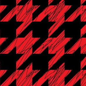 1,5´´ Hound´s tooth Red and Black Scratched