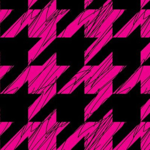 1,5´´ Hound´s tooth Magenta and Black Scratched