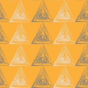 triangle yellow gray