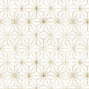 Star Geo - White + Gold m