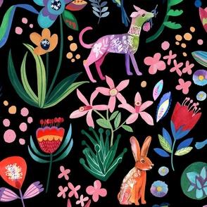 Dream Garden Delights - Black