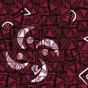 Geometric Batik - Maroon