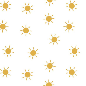 sunshine sun white and mustard summertime