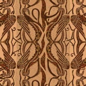 Brown Celtic wings