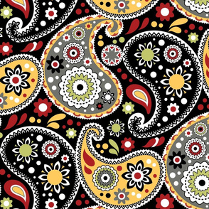 Boho Cowboy Traditional Paisley Print