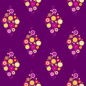 floral diamond in Karmic colors