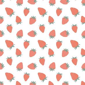 Pink gouache strawberry
