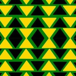 black and yellow triangles on green
