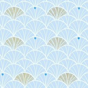 Scallop Seashells - Blue