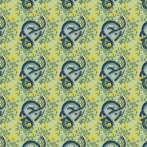 Slither in Tea Green | Dollhouse Scale | Tiny Print