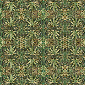 Camouflage Cannabis Pot Leaf