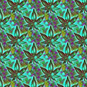 Trippy Cannabis Pot Leaf