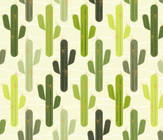 cactus - stylized saguaros - american old west