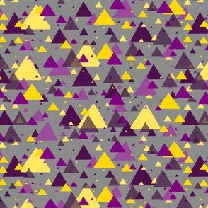 purple and yellow triangles on grey