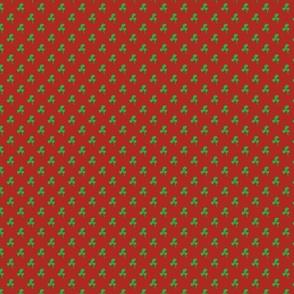 clover on red/orange