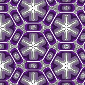 Psychedelic propeller floral - violet