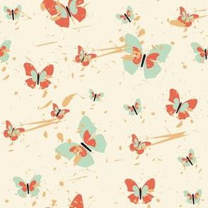 Butterflies in pastel