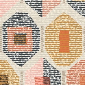 modern western weave sunset colors large scale