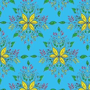 Vibrant Feminine Floral - Turquoise