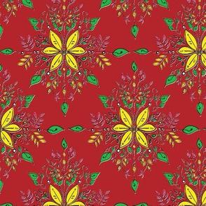 Vibrant Feminine Floral - Red