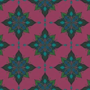 Bourbon & Secrets - Moody Fuchsia, Deep Green