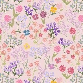 Spring Imaginary Garden in Cream