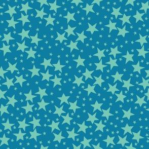 Space Stars-Blue
