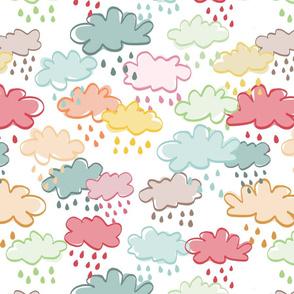 Rainy again over white - bigger