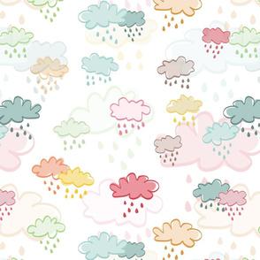 Pouring rain - over white - bigger