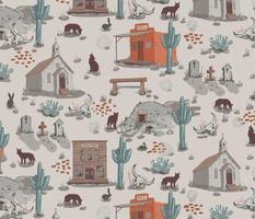 Ghost Town - Coyote Playground - Cream, Cactus,