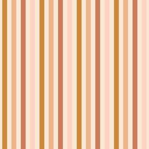 Multi Warm boho Stripes