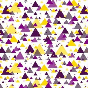 purple and yellow triangles