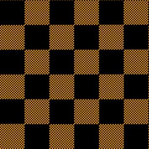 Small and big checkered orange