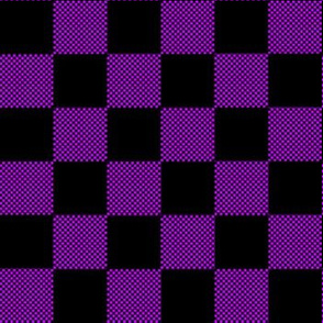 Small and big checkered purple