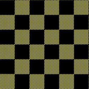 Small and big checkered yellow