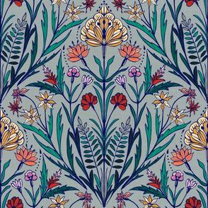 Folksy Flower (Blue)