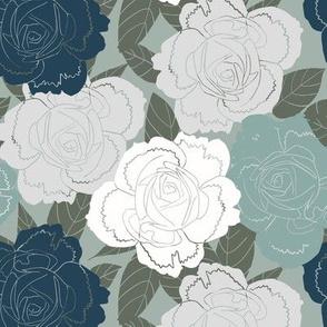 wild roses blue