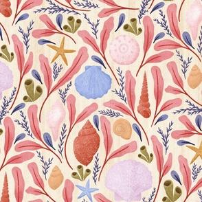 Vintage Seashells  Pink Pastels