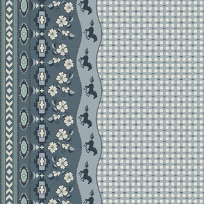"""Wild and Free on The Range 42"""" mirrored border"""