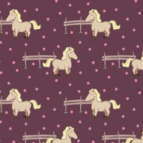 Girly horse and polka dots