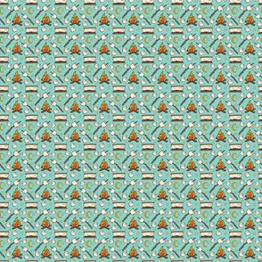 smores - aqua - 2x2 scale